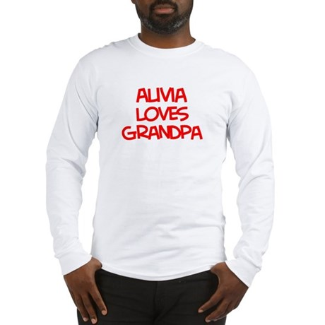 Alivia Loves Grandpa Long Sleeve T-Shirt