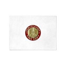 deputy fire chief brass emblem 5'x7'Area Rug