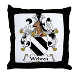 Wehren Family Crest Throw Pillow