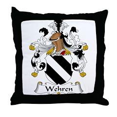 Wehren Family Crest Throw Pillow