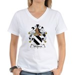 Wehren Family Crest Women's V-Neck T-Shirt