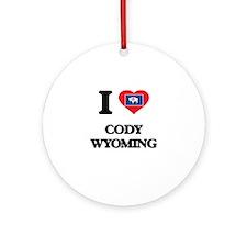 I love Cody Wyoming Ornament (Round)