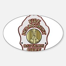 battalion chief FD badge white Decal