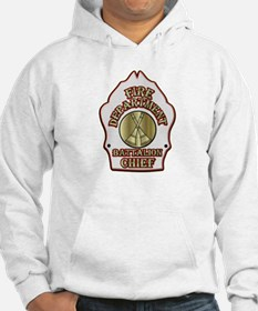 battalion chief FD badge white Hoodie
