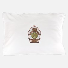 battalion chief FD badge white Pillow Case