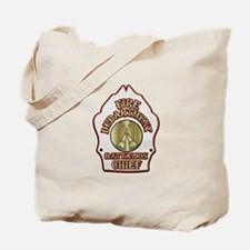 battalion chief FD badge white Tote Bag