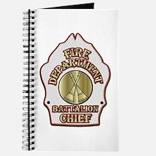 battalion chief FD badge white Journal