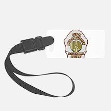 battalion chief FD badge white Luggage Tag