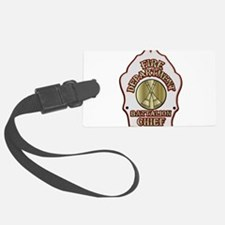 battalion chief FD badge white Luggage Tag