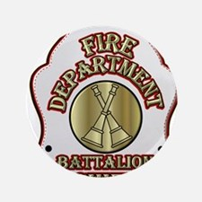 """battalion chief FD badge wh 3.5"""" Button (100 pack)"""