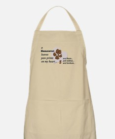 Muddy paws on my heart Apron