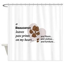 Muddy paws on my heart Shower Curtain