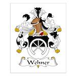 Wehner Family Crest  Small Poster