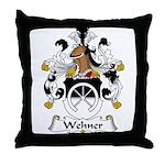 Wehner Family Crest  Throw Pillow