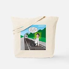 Train Toilet Tote Bag