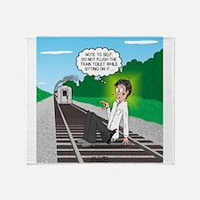 Train Toilet Throw Blanket