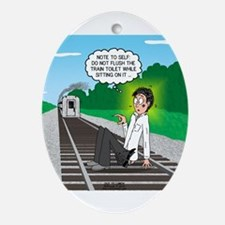 Train Toilet Ornament (Oval)