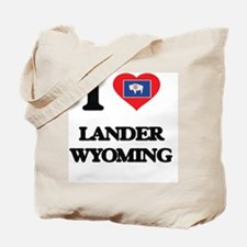 I love Lander Wyoming Tote Bag