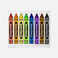 crayons Throw Blanket