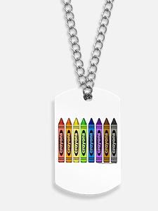 crayons Dog Tags