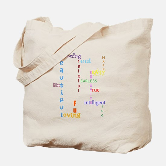 Uplifting Characteristics Tote Bag