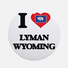 I love Lyman Wyoming Ornament (Round)