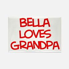 Bella Loves Grandpa Rectangle Magnet