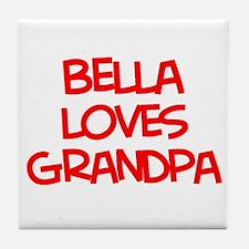 Bella Loves Grandpa Tile Coaster