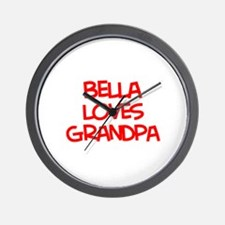 Bella Loves Grandpa Wall Clock