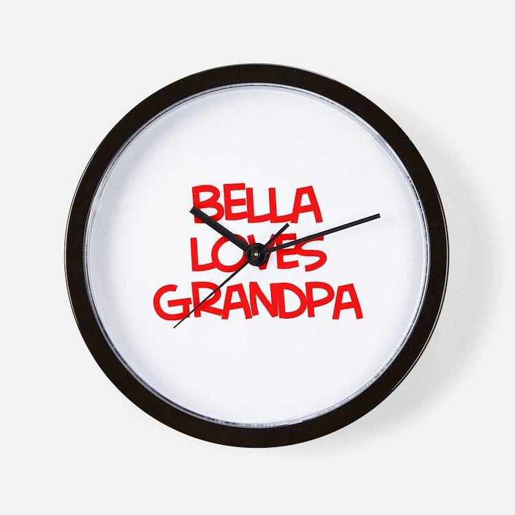 Bella Loves Grandpa Wall Clock