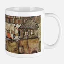 House Wall on the River by Egon Schiele Mugs