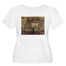 House Wall on the River by Egon Plus Size T-Shirt