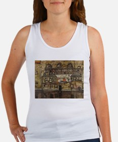 House Wall on the River by Egon Schiele Tank Top