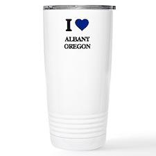 I love Albany Oregon Travel Coffee Mug