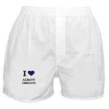 I love Albany Oregon Boxer Shorts