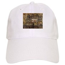 House Wall on the River by Egon Schiele Baseball Cap