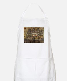 House Wall on the River by Egon Schiele Apron