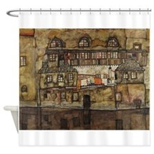 House Wall on the River by Egon Sch Shower Curtain