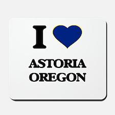 I love Astoria Oregon Mousepad