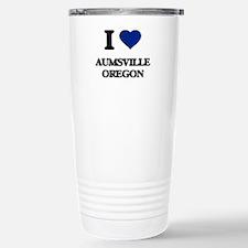 I love Aumsville Oregon Travel Mug