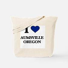 I love Aumsville Oregon Tote Bag