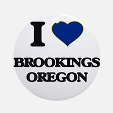 I love Brookings Oregon Ornament (Round)