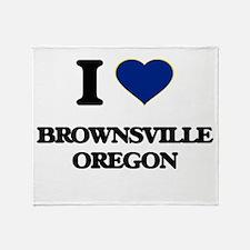 I love Brownsville Oregon Throw Blanket
