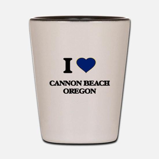 I love Cannon Beach Oregon Shot Glass