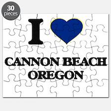 I love Cannon Beach Oregon Puzzle