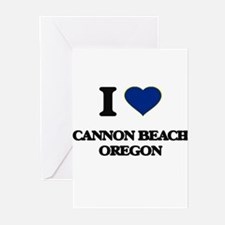 I love Cannon Beach Oregon Greeting Cards