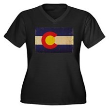 Colorado St Women's Plus Size V-Neck Dark T-Shirt