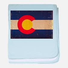 Colorado State Flag VINTAGE baby blanket