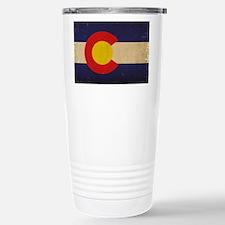 Colorado State Flag VI Stainless Steel Travel Mug