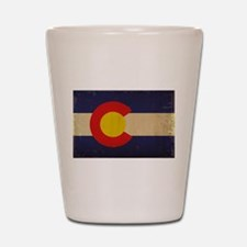 Colorado State Flag VINTAGE Shot Glass